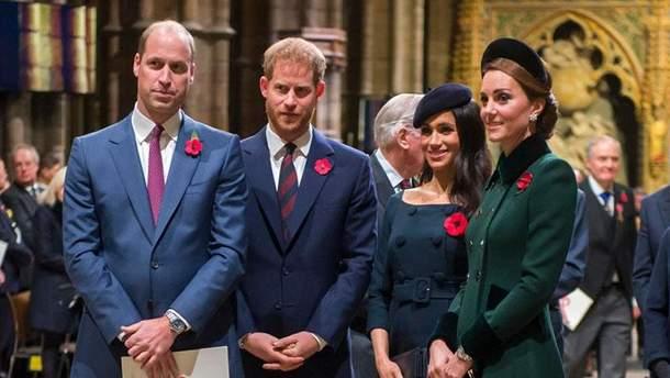 Принц Гаррі посварився зі своїм братом через Меган Маркл