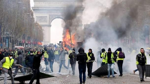 Протесты желтых жилетов во Франции 2018 - причины и есть ли след России