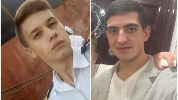 Полонені українські моряки – Андрій Ейдер та Андрій Артеменко