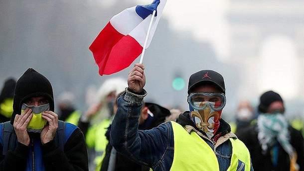 """Акции протестов """"желтых жилетов"""" во Франции"""