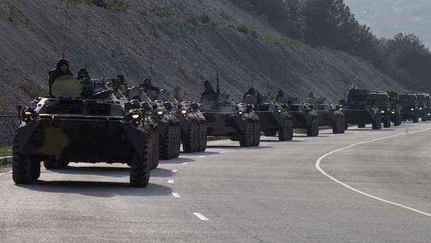 Россия вывозит из Крыма военную технику