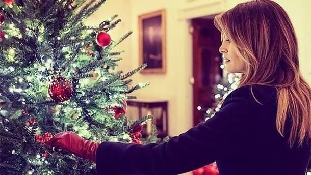 Мелания Трамп готовится к Рождеству