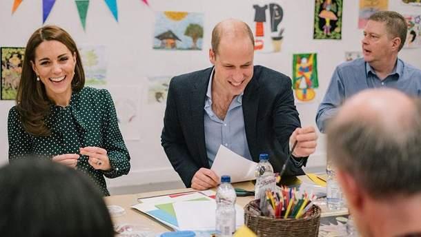 Кейт Миддлтон и принц Уильям посетили госпиталь