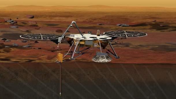 """InSight прислал первое """"селфи"""" с Марса"""