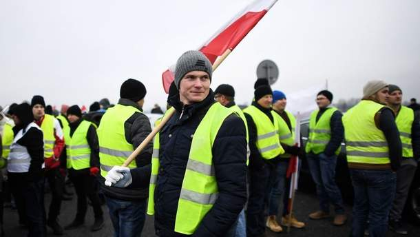 """Протесты """"желтых жилетов"""" в Польше"""