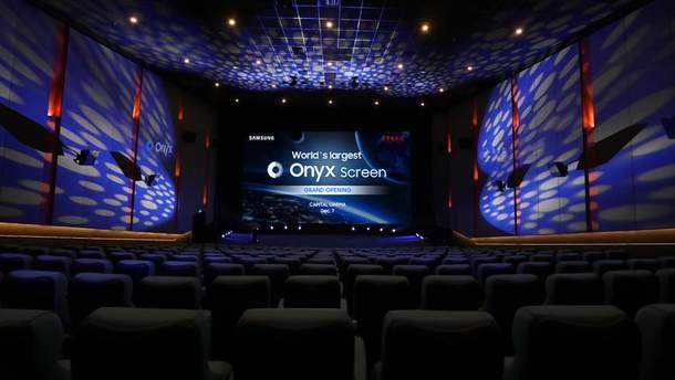 Компания Samsung представила самый большой в мире LED-экран для кинотеатров Cinema Onyx