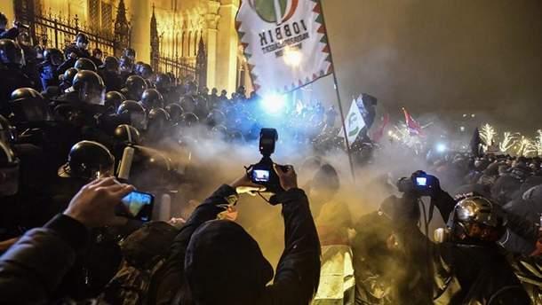 """У Будапешті влаштували мітинг проти """"рабського закону"""""""