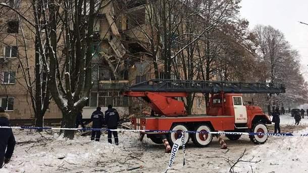 На Київщині вибух газу зруйнував 3 поверхи в житловому будинку