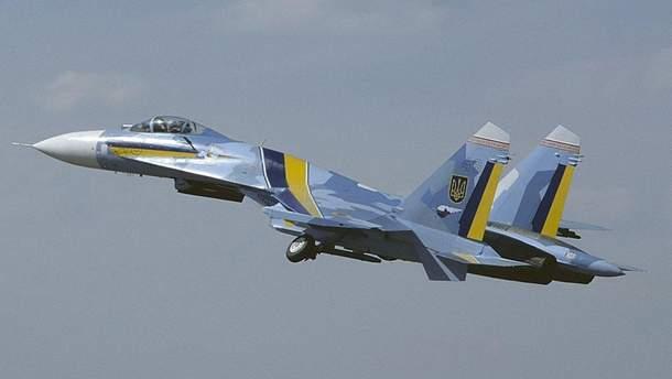 На Житомирщині під час навчань розбився літак Су-27