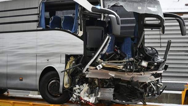 Авария с пассажирским автобусом в Швейцарии
