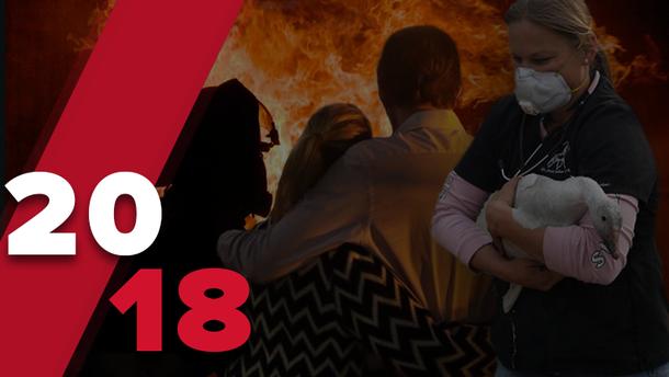 Стихійні лиха, що сколихнули світ у 2018 році: нищівні пожежі, землетруси, повені
