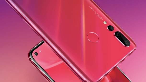 """Huawei nova 4: компанія офіційно представила власний смартфон із """"діркою"""" в екрані"""