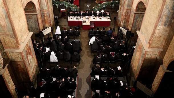 Опублікували відео Об'єднавчого собору зсередини Софії Київської
