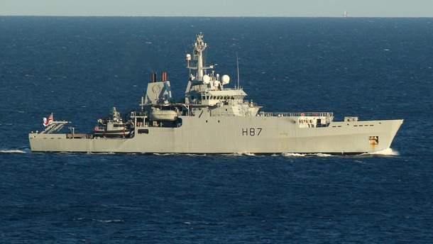 Корабль Королевского флота Британии вошел в Черное море