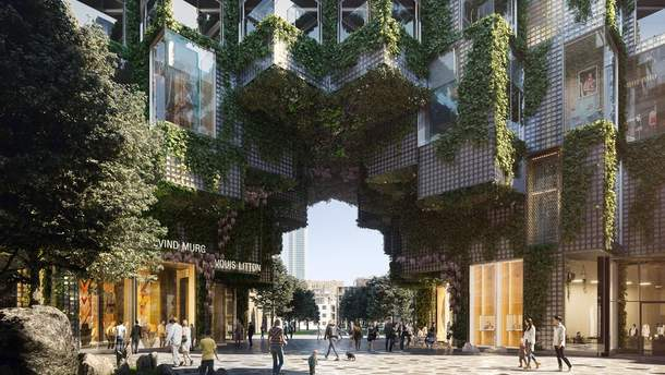 Проект кварталу у Торонто зі скляної цегли