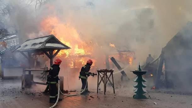 Пожежа у Львові на Різдвяному ярмарку 22 грудня 2018 - відео