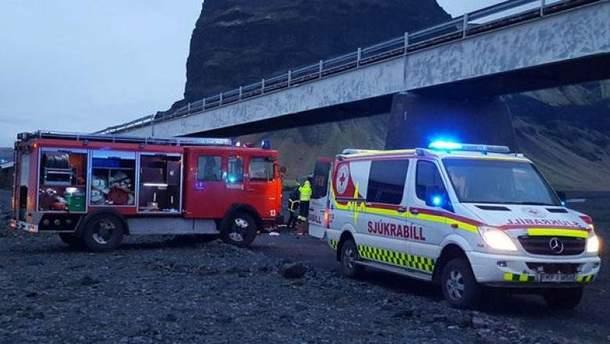 Авария в Исландии