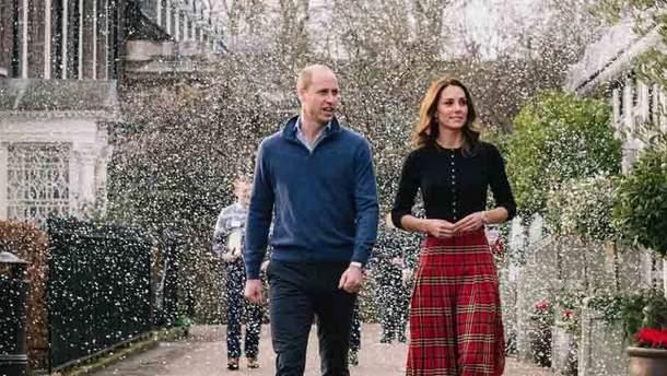 Герцоги Кембриджские принц Уильям и Кейт Миддлтон