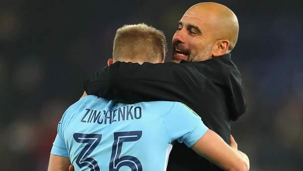 Гвардиола: Зинченко сегодня был лучшим игроком на поле
