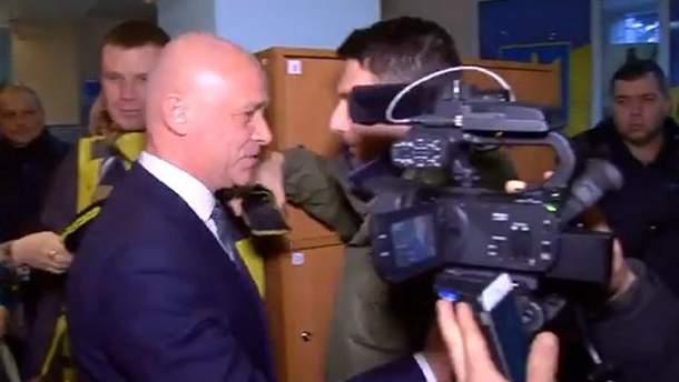 Поліція відкрила справу після того, як Труханов штовхнув журналіста