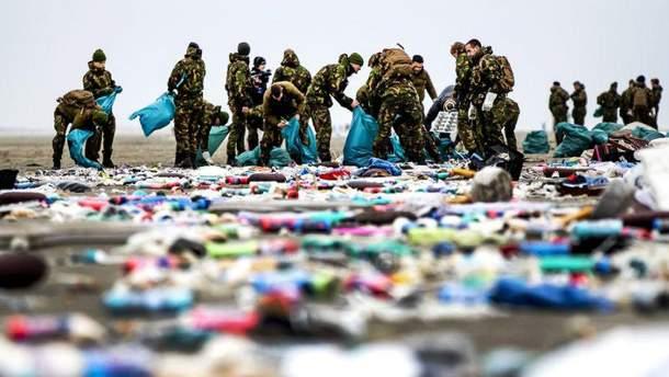 В Нидерландах сотни товаров из потерянных в море контейнеров выбросило на побережье