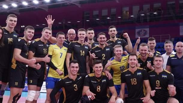 Мужская сборная Украины по волейболу вышла на Евро