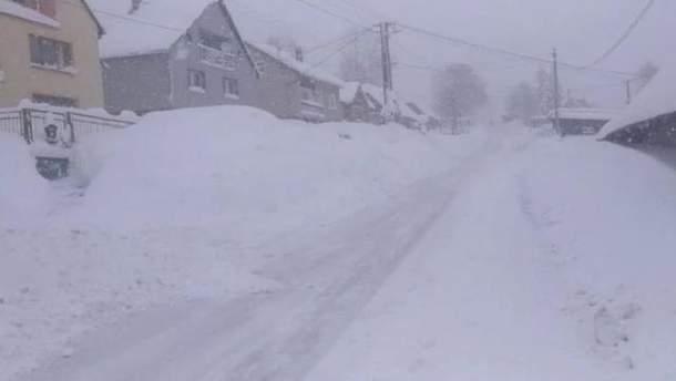 Снег в Словакии