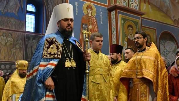 Глава ПЦУ Епифаний поздравил украинцев с Рождеством