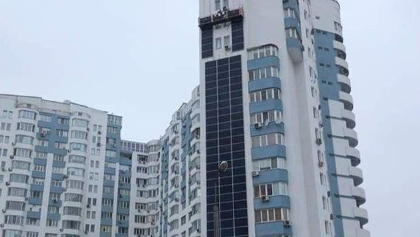 Дом в Киеве с солнечными панелями