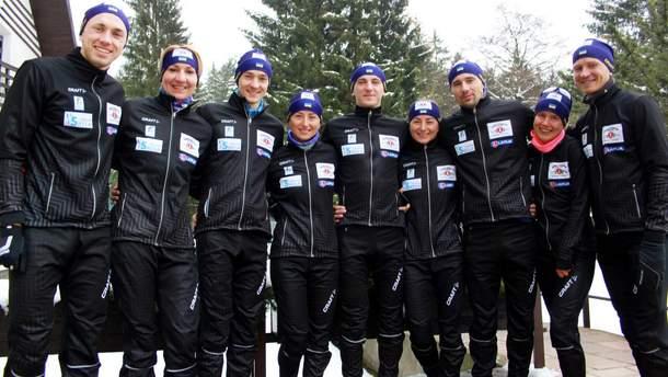 Украинские биатлонисты