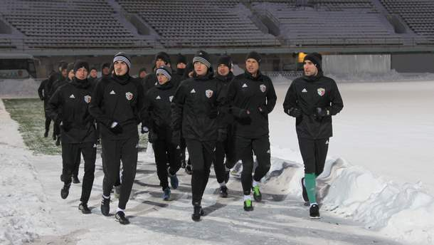 """Гравці """"Ворскли"""" на стадіоні у Полтаві"""