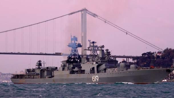 У Чорне море увійшов російський бойовий корабель