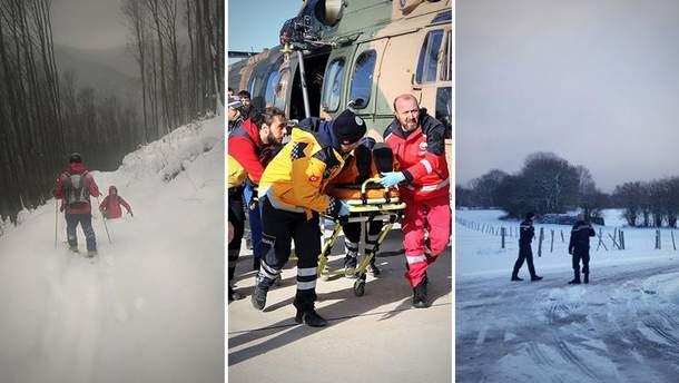 Рятувальники знайшли туриста, який заблукав уКарпатах у різдвяну ніч