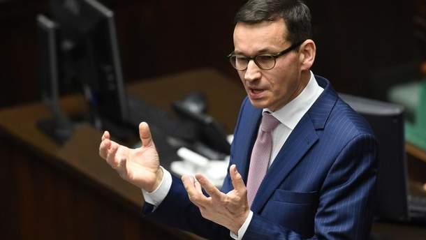 """Прем'єр Польщі  назвав """"Північний потік-2"""" антиєвропейським проектом для шантажу з боку Путіна"""