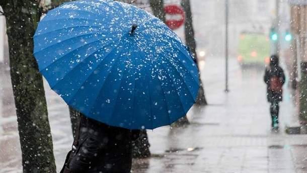 Погода 11 января 2019 Украина – обещает мокрый снег с дождем