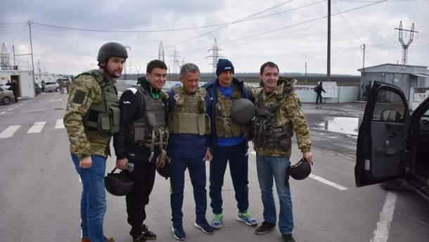 Мирон Маркевич під час відвідування прикордонників на передовій