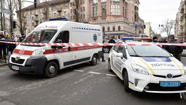 Взрыв в ТЦ Киева