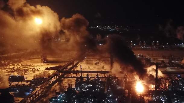 Пожежа на хімзаводі у Калуші Івано-Франківської області