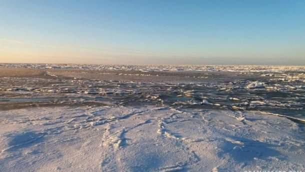 У Кирилівці на Запоріжжі замерзло Азовське море