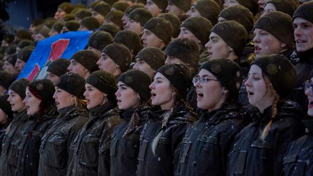 Флешмоб в поддержку украинских пленных моряков