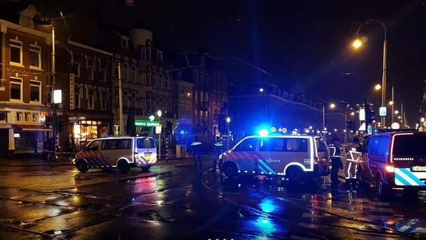 Место, где произошел взрыв в Амстердаме