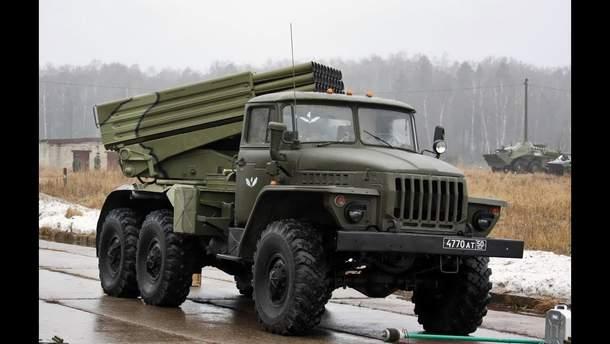 """Проросійські бойовики розмістили  22 """"Гради"""" на окупованому Донбасі"""
