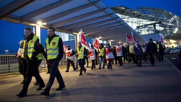 В Германии бастуют работники аэропортов