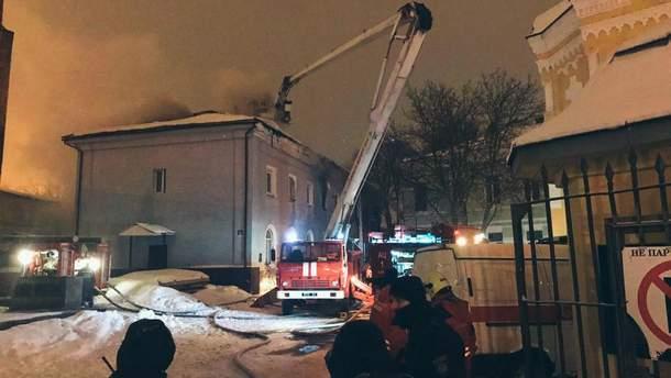 Пожар в Киево-Печерской лавре ликвидировали