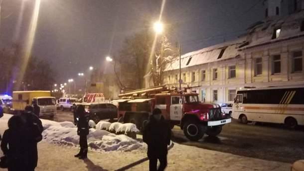 Пожар в Киево-Печерской лавре