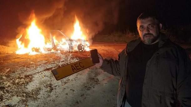 Олег Ярошевич сжег свое авто в знак протеста