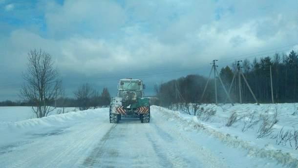 Львовскую область замело снегом