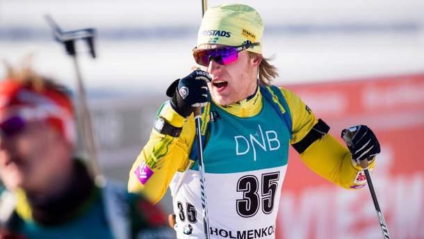 Шведский биатлонист Себастьян Самуэльсон активно критикует россиянина Александра Логинова