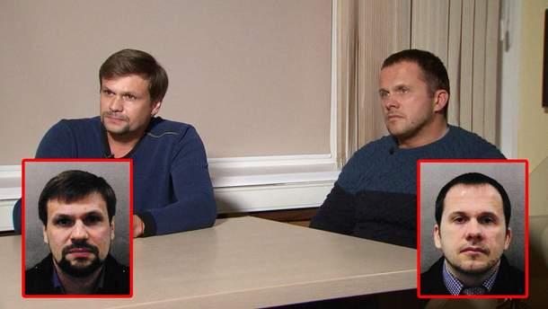 Отравители Скрипалей Руслан Боширов (настоящее имя – Анатолий Чепига) и Александр Петров (Александр Мишкин)