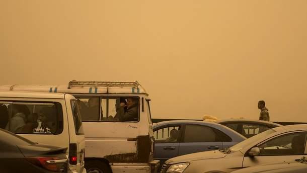 Египет накрыла песчаная буря
